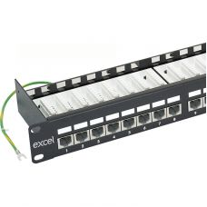 Cat.6 Shielded Right Angle RJ45 Patch Panel