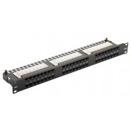 Excel 48 Port 1U Cat.6 Right Angle Patch Panel
