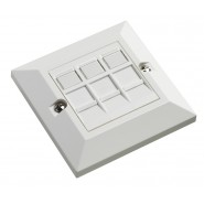 Excel Cat.6 Triple Outlet with Faceplate
