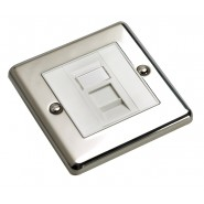 Cat 5e RJ45 Metal Faceplates