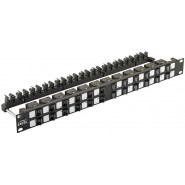 Excel Angled Keystone Jack Patch Panel Frames - Unloaded