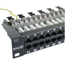 Excel 1U 25 Way 3 Pair Voice Patch Panel