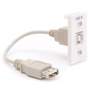 USB 2.0 B to A Coupler Module 25x50mm White