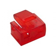 RJ45 Secure Port Blockers with Key (Pack of 25) Red