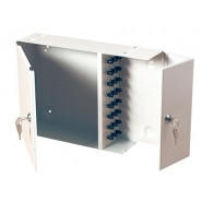 24 Port ST 2 Door Lockable Wall Mounted Enclosure - Loaded