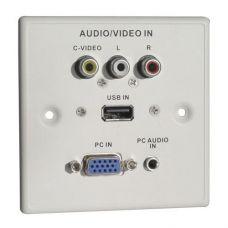USB/SVGA/Composite/Audio Faceplate