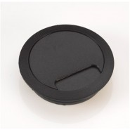 80mm Desk Grommet, BLACK