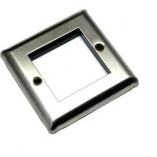 Faceplate Brushed Stainless Steel 2 x Euro Module
