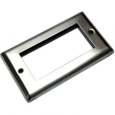 Faceplate Brushed Stainless Steel 4 x Euro Module