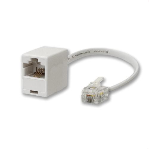 Telecom Line Adaptor Rj11 Plug To Rj45 Socket Adept Networks