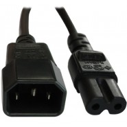 IEC Male (C14) - IEC Female (C7) Power Extension Cable 2m