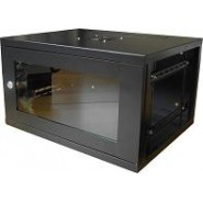 6U 300mm Deep Wall Box - BLACK