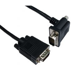 2m Straight to Right Angled SVGA Cable