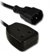 IEC C14 Plug to UK 13A Socket