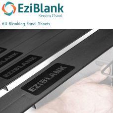 EziBlank 6U Blanking Panels - BLACK