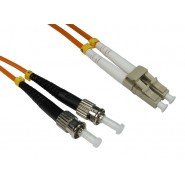 50/125 OM2 LC-ST Duplex Patch Leads