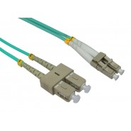 50/125 OM3 LC-SC Duplex Patch Leads