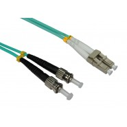 50/125 OM3 LC-ST Duplex Patch Leads