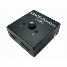 2 Way HDMI V2.0 4K Bidirectional Manual Switch