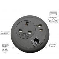 Desk Power Grommet - Interchangeable