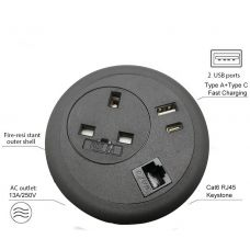 Desk Power Grommet - Interchangeable