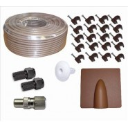 25m BROWN RG6 Aerial & Satellite Cable Kit