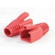 RJ45 Cat.6A Strain Relief Boot, Orange & Black 8mm