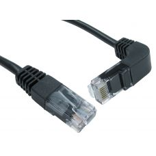 Cat.5e Straight to Right Angle DOWN Cable