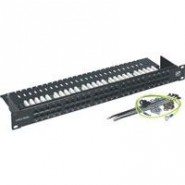 Pressac 1U 50 Way 3 Pair Voice Patch Panel