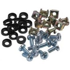 M6 Cage Nuts, Screws and Washers Pack (50)