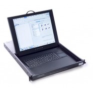 1U Enclosed LCD Keyboard Drawer
