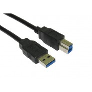 Black USB 3.0 A to B Cable