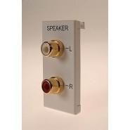 RCA L/R Audio Solder 25x50mm White