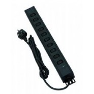 8 Way Vertical IEC PDU, 3m lead