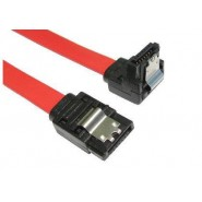 Locking Serial ATA Data Cable, Straight to Right Angle - 45cm