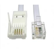 2m RJ11 - BT Plug Crossover Lead