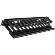 1U Hinged Open Slot Cable Dump Panel
