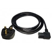 UK Plug to Right Angled IEC (C13 Kettle Lead)