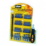 58 piece Ratchet Handle Screwdriver Bit and Socket Set