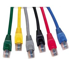 0.5m UK Booted Category 5e Patch Leads