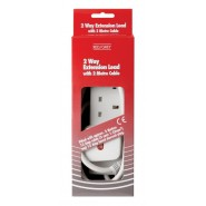 2 Gang 13A Leads - White