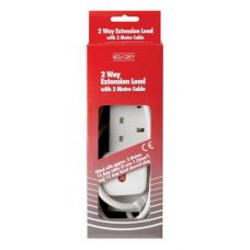 4 Gang 13A Leads - White