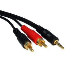 3.5mm Stereo Plug to 2 x RCA/PHONO Plugs
