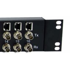 16 E1 Balun Panel - Front Mount Coax to RJ45