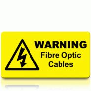 Warning Fibre Optic Cables Label
