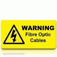 Warning Fibre Optic Cables Label